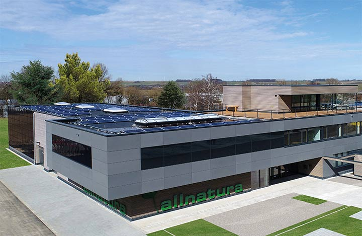 Das nachhaltige Firmengebäude von allnatura