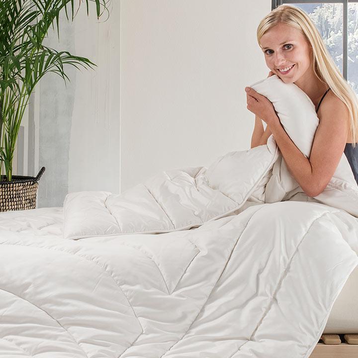 Ultraleicht-Bettdecken - komplett waschbar