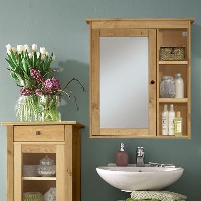 Empfehlung: Bad Spiegelschrank – Massives FSC Kiefernholz  von allnatura*