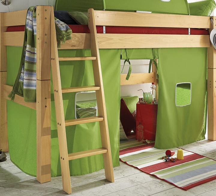 """Spielvorhang für Mittel-Hochbett """"Kiddy"""" - Schnäppchen 2092-2498"""