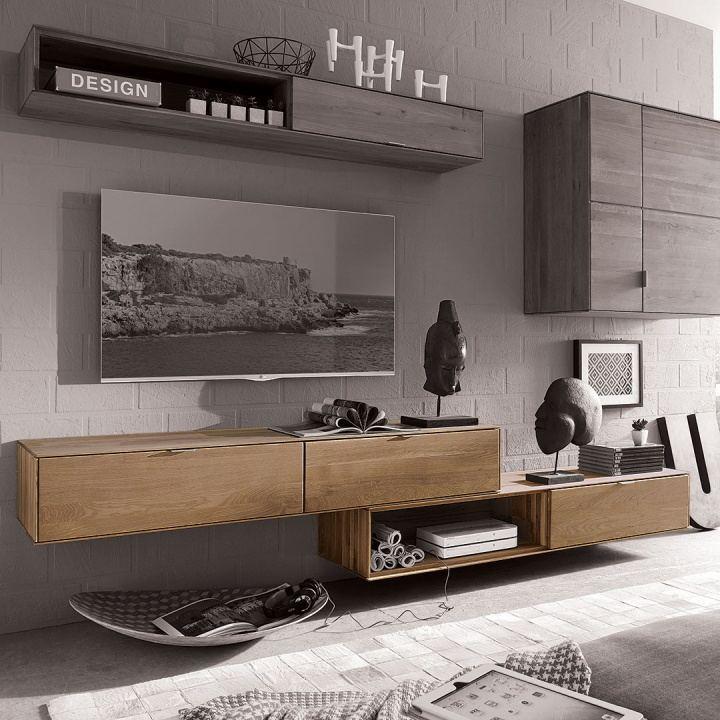 wohnwand civenna massiv wildeiche. Black Bedroom Furniture Sets. Home Design Ideas
