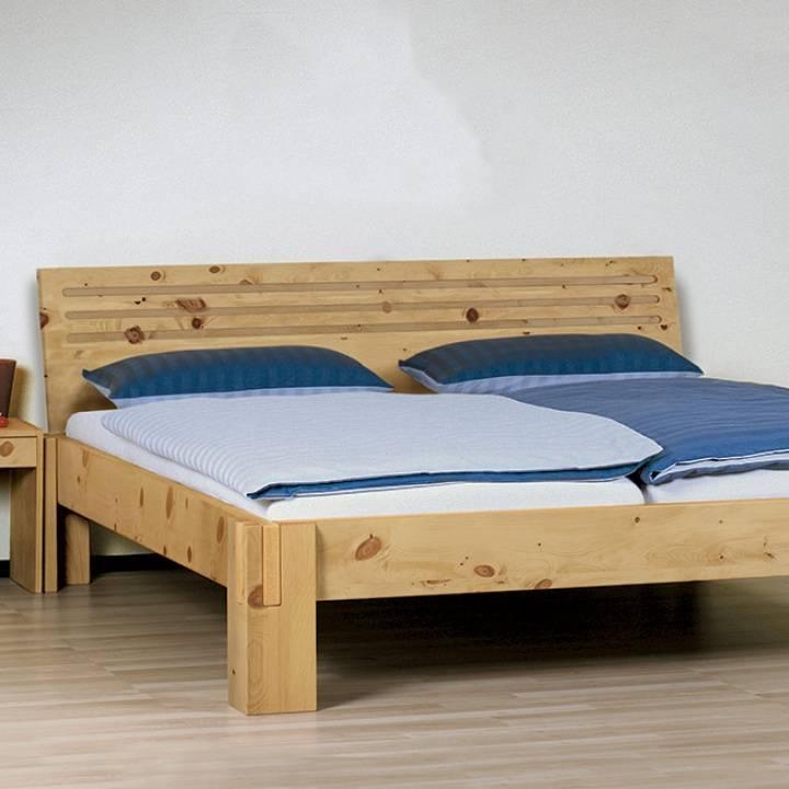 """Einzelbett und Doppelbett """"Salerno 03"""" Zirbe"""