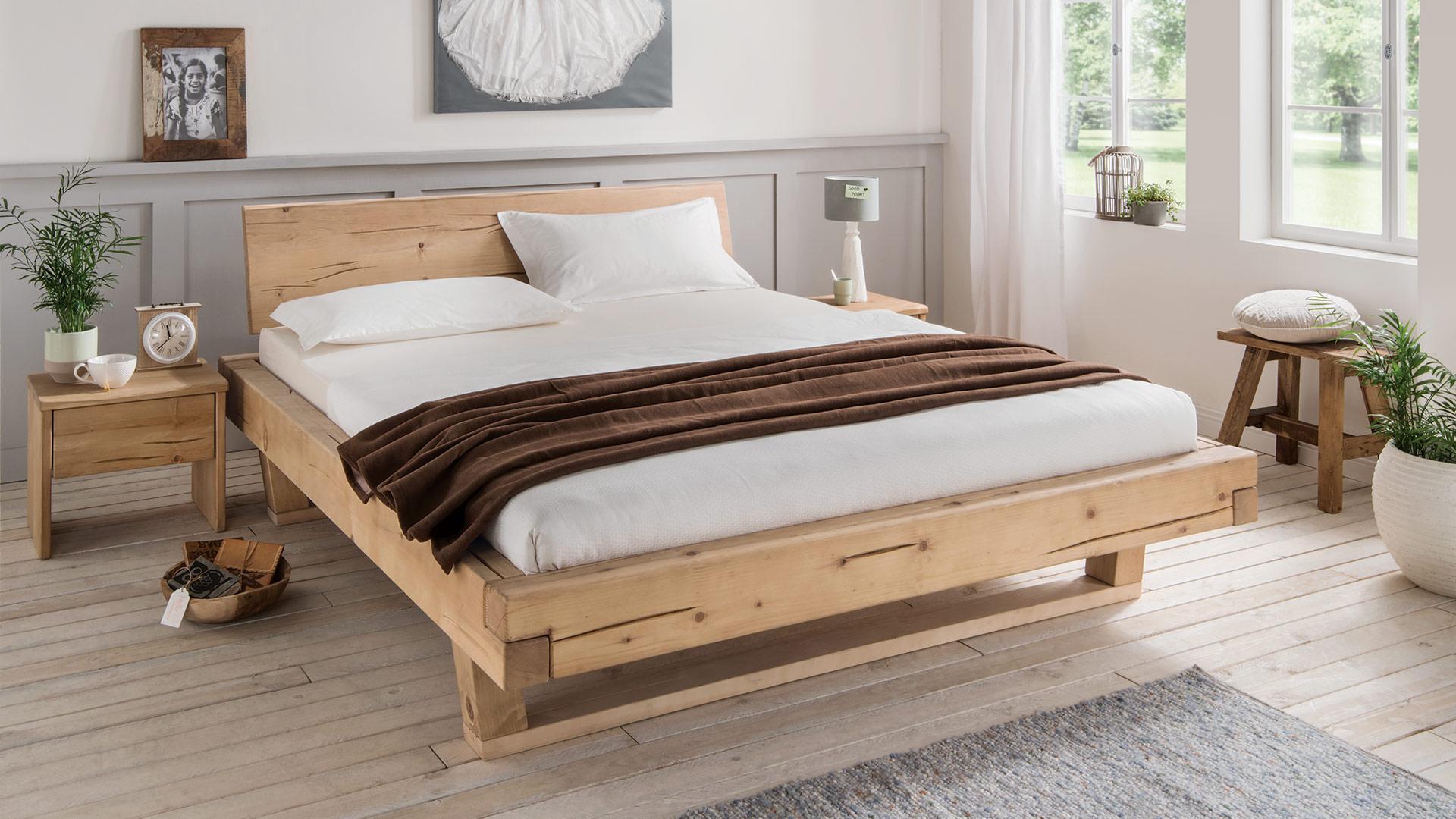 Doppelbett tegora massiv fichtenholz for Doppelbett jugendzimmer