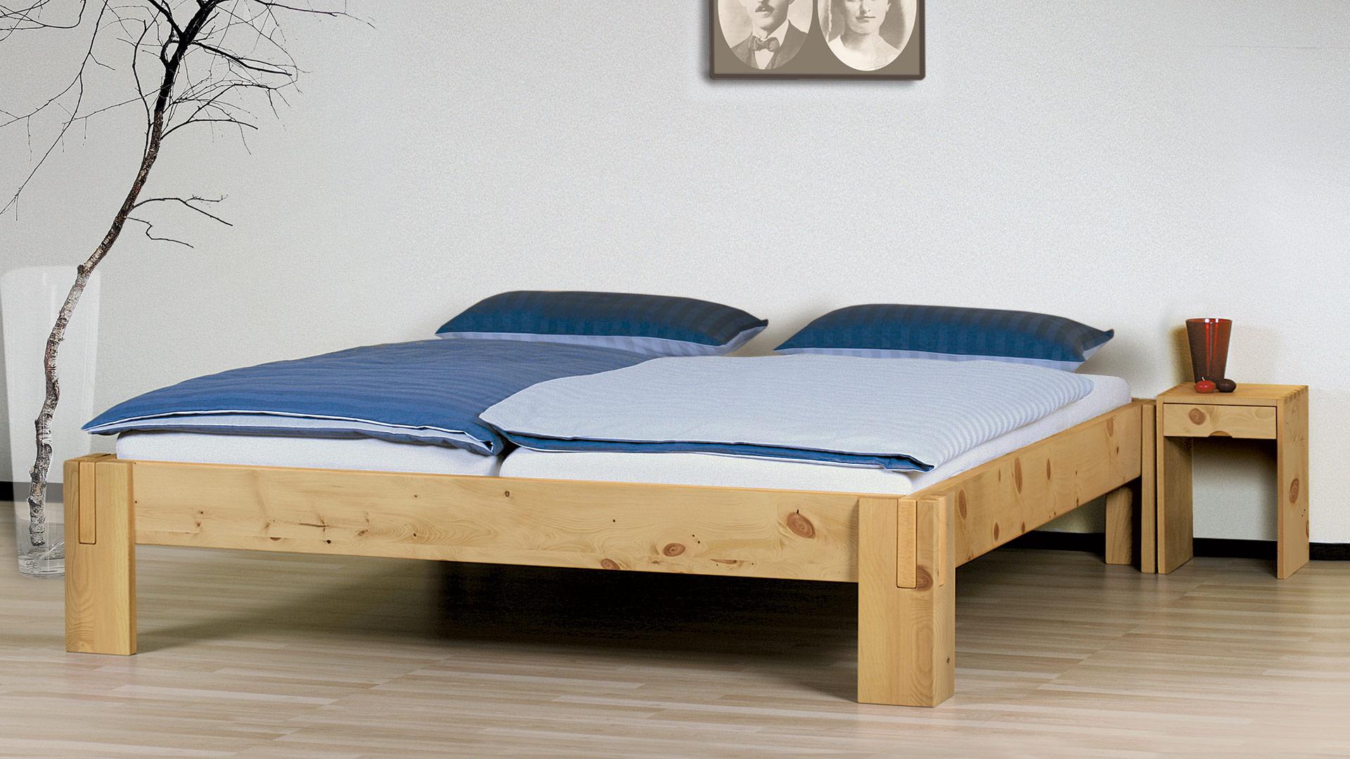 einzelbett und doppelbett salerno liege zirbe. Black Bedroom Furniture Sets. Home Design Ideas