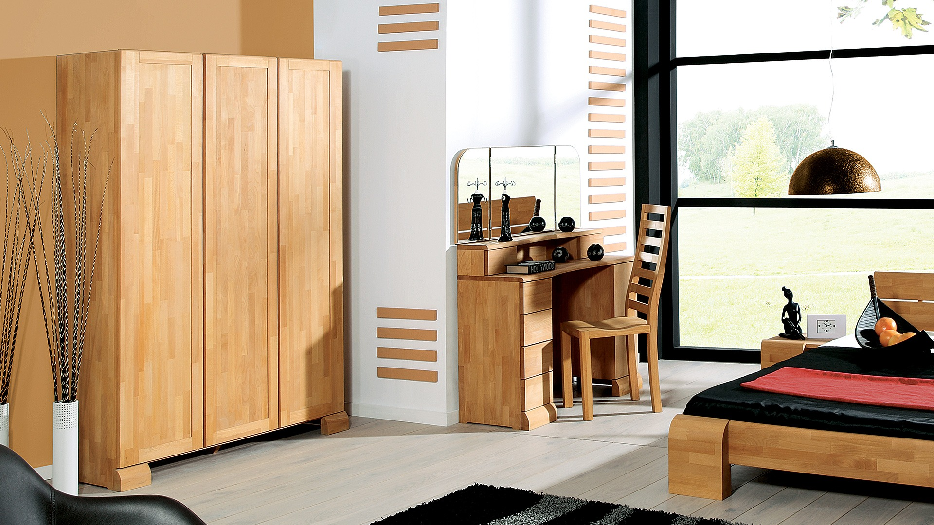 massivholz kleiderschrank arrondo buche. Black Bedroom Furniture Sets. Home Design Ideas