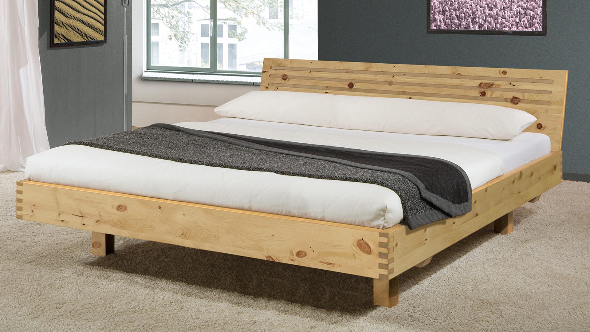 einzelbett und doppelbett verona 02 zirbe. Black Bedroom Furniture Sets. Home Design Ideas