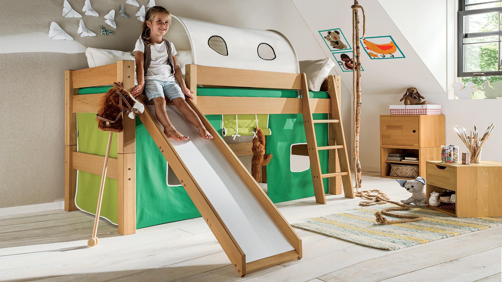 mini hochbett pico pino. Black Bedroom Furniture Sets. Home Design Ideas