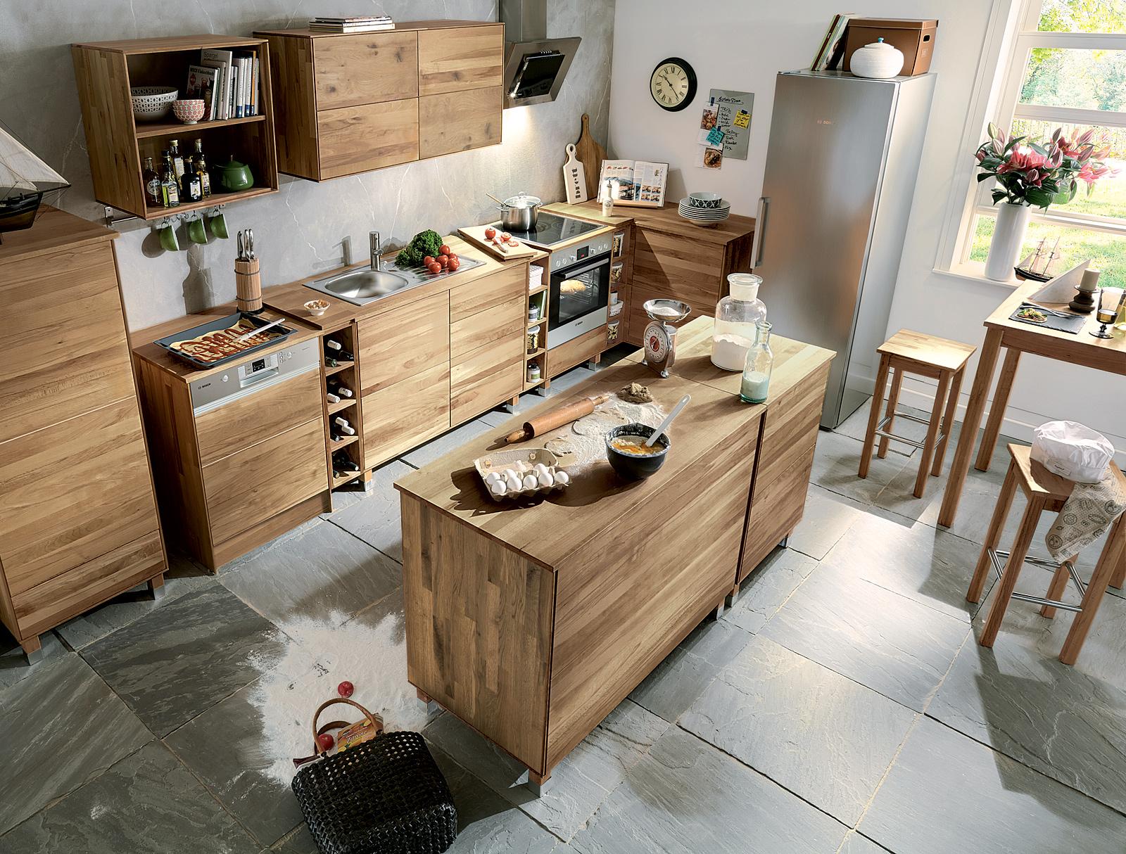 Kucheninsel Culinara 100 Massivholz