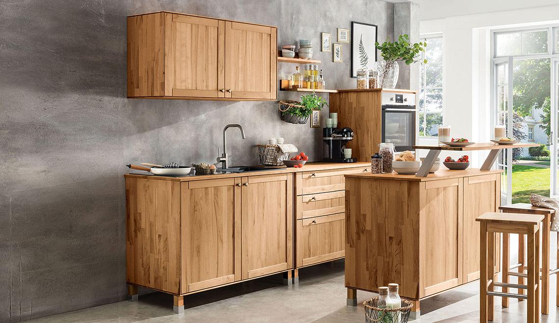 Unsere Massivholz Modulküche Culinara Ist Modular Erweiterbar – dede14